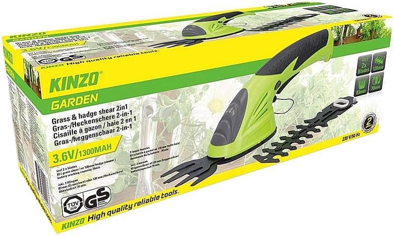 Kinzo Oplaadbare Heggenschaar en Grasschaar