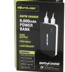 Soundlogic Powerbank - 6600mAh - Rapid charge