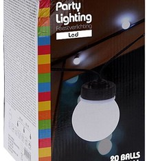 Party Lighting Feestverlichting 20 witte LED lampen