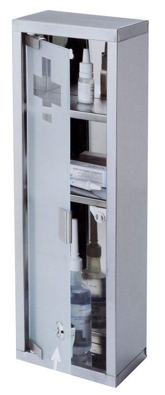 RVS medicijnkastje (45x15x12cm)