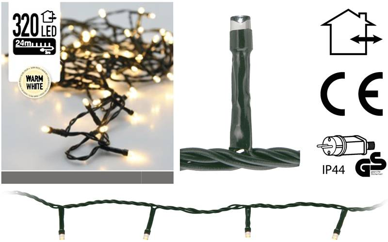 DecorativeLighting LED-verlichting 320 LED's 24 meter warm wit