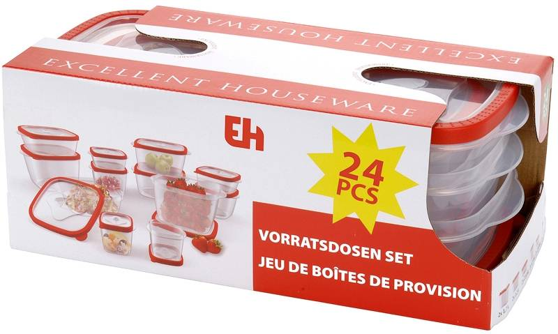 Excellent Houseware Voorraaddozenset - 24 delig
