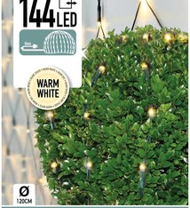 DecorativeLighting Buxus Netverlichting 144 LED's warm wit