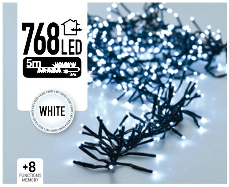 DecorativeLighting Clusterverlichting 768 LED 5.5m wit