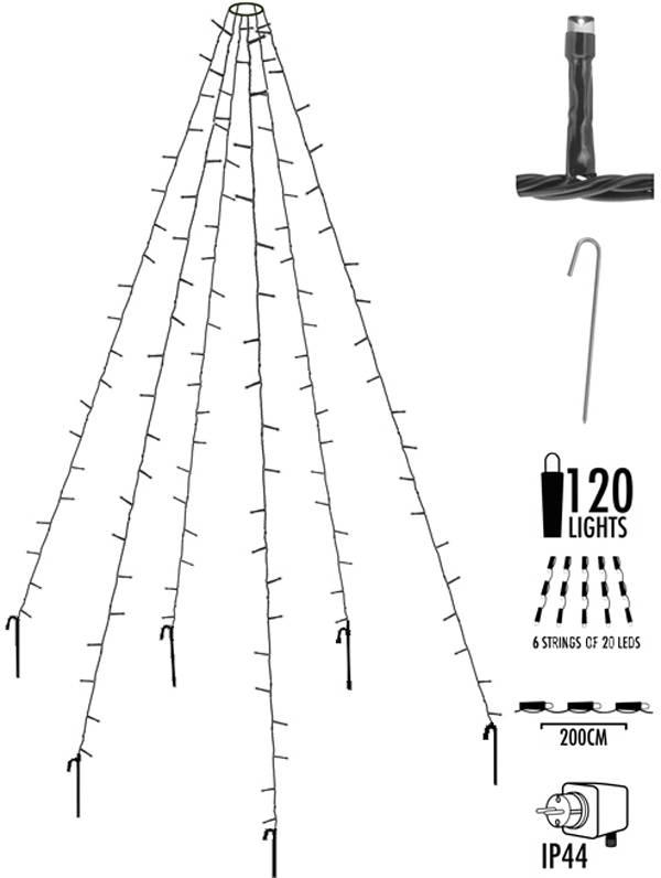 Vlaggenmast verlichting 120 LED's