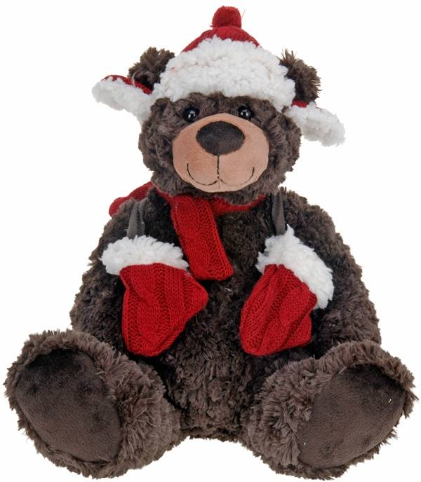 Home & Styling Pluche kerstbeer - 30cm