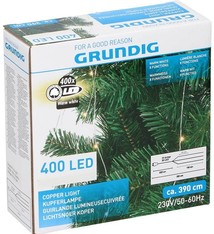 Grundig Lichtsnoer koper 400 LED - warm wit - 8 functies