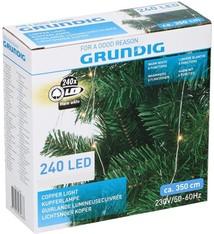 Grundig Lichtsnoer koper 240 LED - warm wit - 8 functies