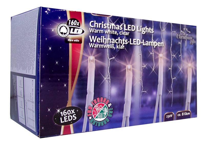 Christmas Gifts Kerstverlichting ijspegels wit 160 LED´s