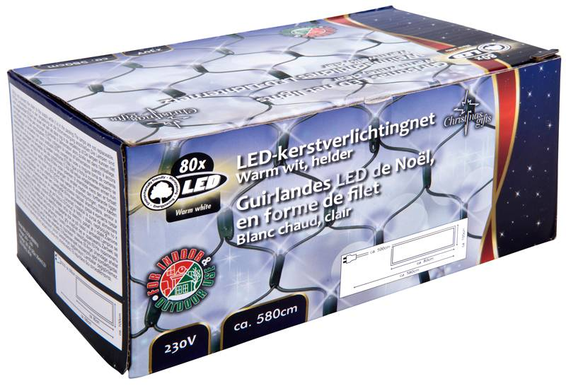 Christmas Gifts Netverlichting warm wit - 80 LED - buiten
