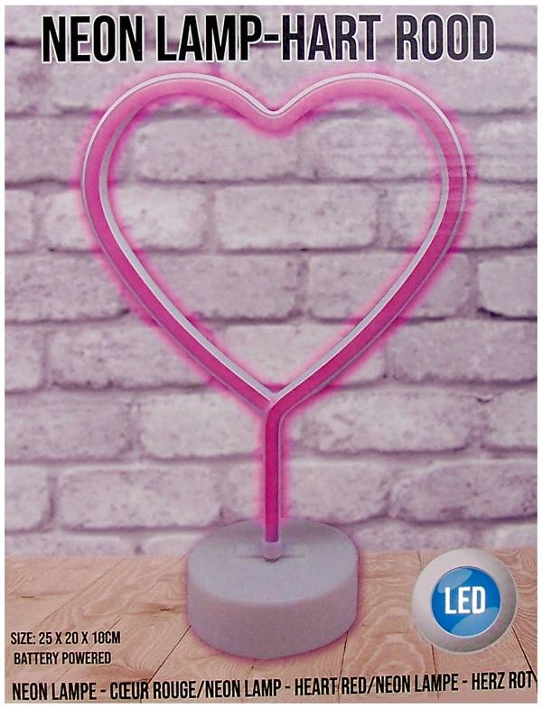 Gifts@Home Neonstyle lamp - hart - rood