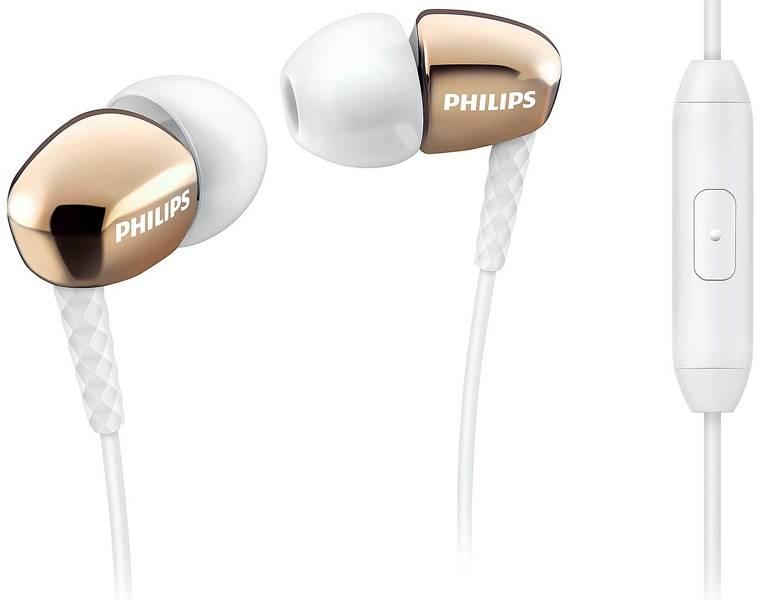 Philips SHE3905GD/00 In-ear oordopjes met microfoon goud-wit