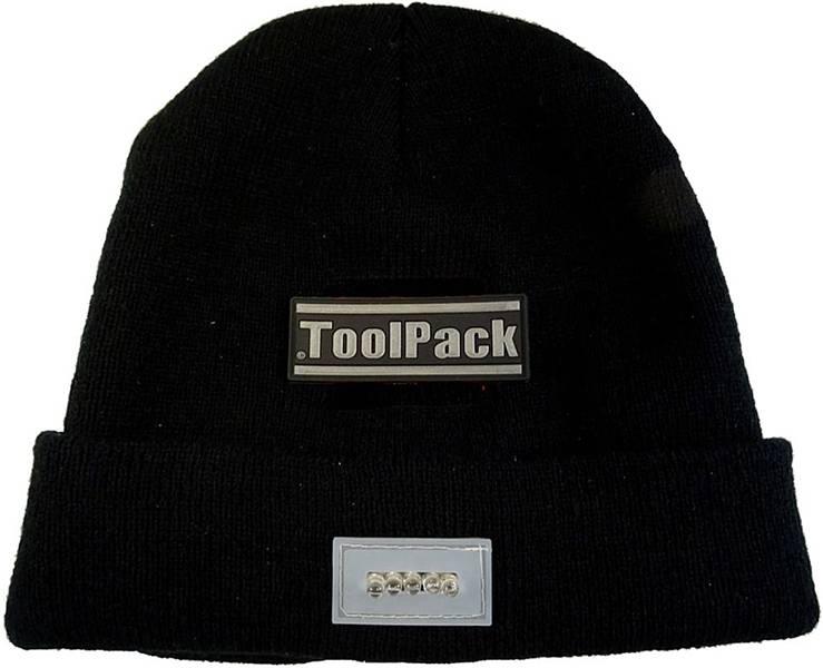 ToolPack Werkmuts met LED-verlichting - zwart