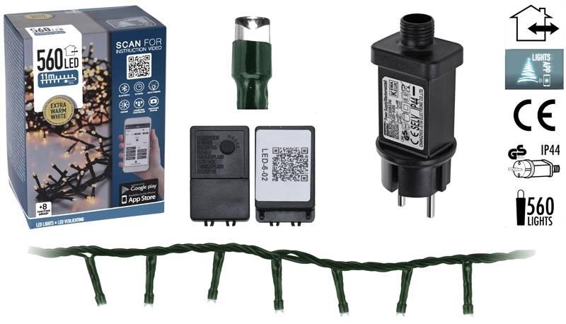 DecorativeLighting Micro Cluster met App bediening - 560 LED's 11 meter - warm wit