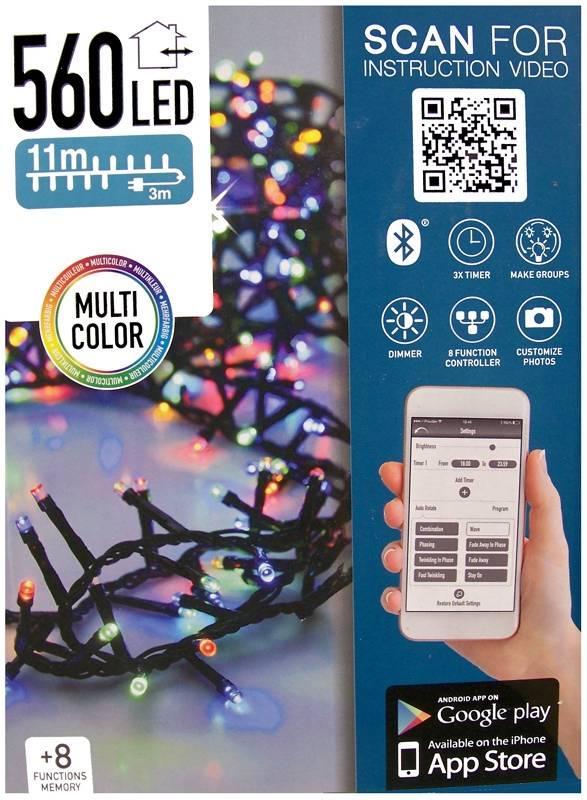 DecorativeLighting Micro Cluster met App bediening - 560 LED's 11 meter - multicolor