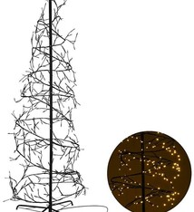 Home&Style Decoration Kerstboom spiraal 240cm - 576 LED - warm wit