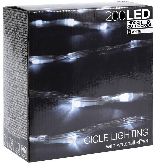 DecorativeLighting IJspegel verlichting met watervaleffect - 200 LED - 3 meter - wit