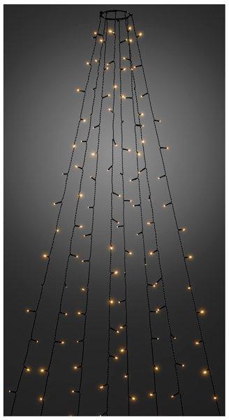 Lichtmantel - 240cm - 8 strengen - buiten - vuurvliegeffect - extra warm wit