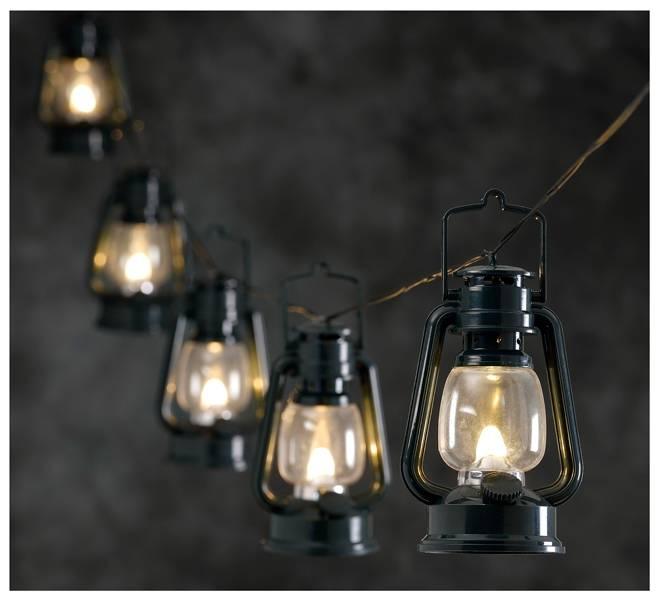 Feestverlichting met 8 LED-lantaarns
