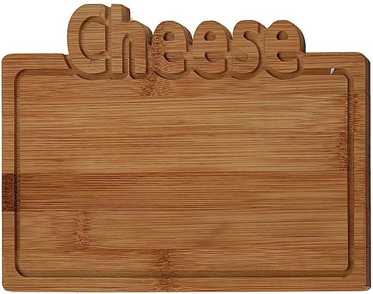 Excellent Houseware Bamboe snijplank -Cheese - 25x17cm