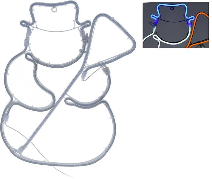 DecorativeLighting Slangverlichting sneeuwman - 360 SMD-LED - 49cm - kleur