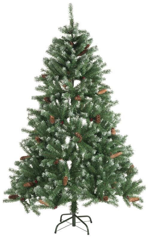 Christmas Gifts Kerstboom 210cm 1024 tips met sneeuw en dennenappels