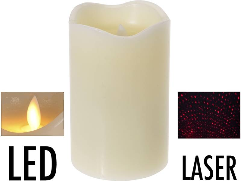 LED-kaars met laser - 12.5cm