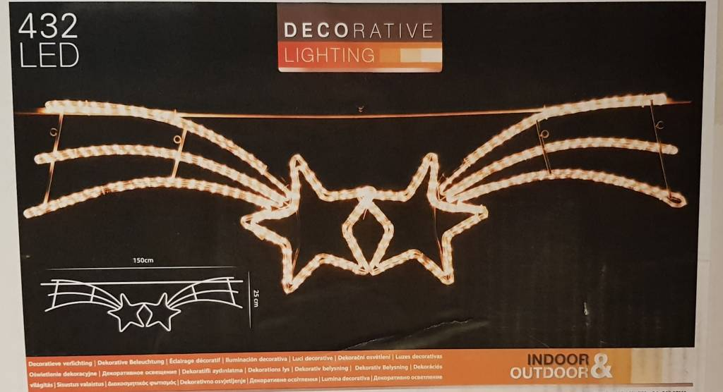 DecorativeLighting Straatverlichting Sterren 150 cm