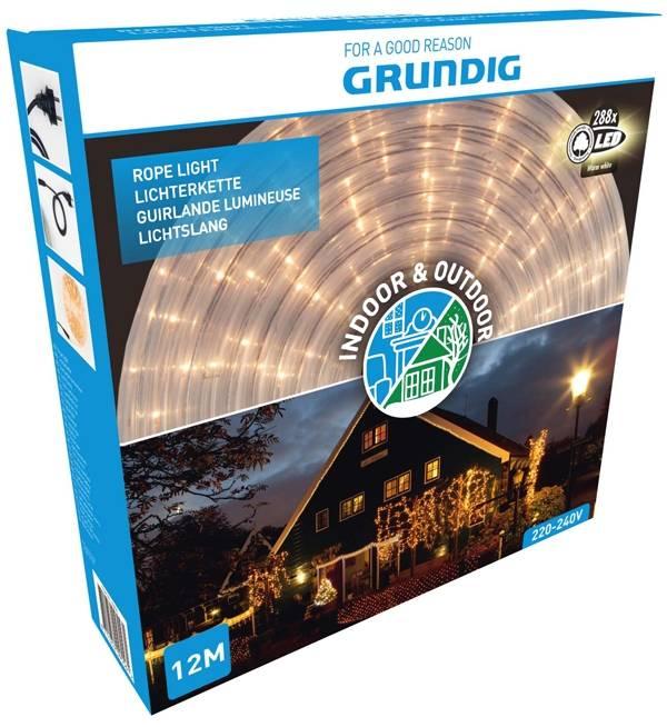 Grundig Lichtslang 12 meter - 288 LED - warm wit
