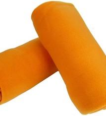 2 Pack Fleece Dekens oranje
