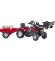 Falk Falk Tractor Case MXU 115 Traptractor + Voorlader + Aanhanger