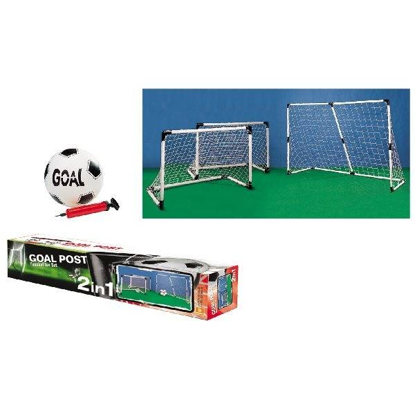 Basic Goal 2in1 2 Doelen: 91,5x63cm of 1 Doel: 183x121cm