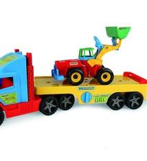 Wader Wader Super Truck Oplegger met Graafmachine