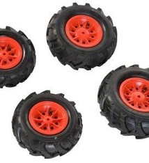 Rolly Toys Rolly Toys 409853 4 Luchtbanden voor RollyJunior en RollyFarmtrac Tractoren Rood