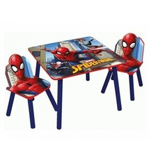 Spiderman Spiderman Houten Tafel met 2 Stoelen