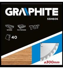 Graphite Graphite Cirkelzaagblad Voor Hout 300 Mm TCT
