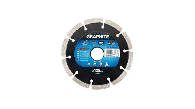 Graphite Graphite Diamantschijf 125x22x8,0x2,2mm, Segment, Gelaserd, Mpa En13236