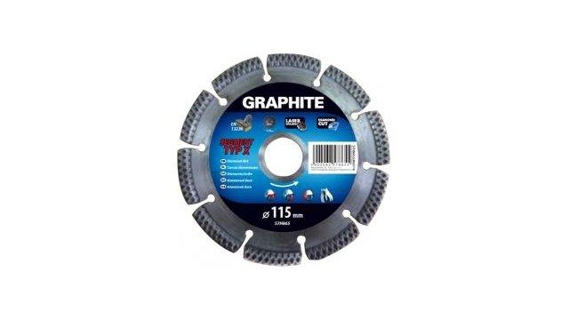 Graphite Graphite Diamantschijf 115x22x8,0x2,2mm, Segment Type X, Gelaserd, Harde Materialen Mpa En13236