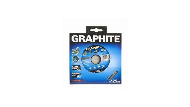 Graphite Graphite Diamantschijf 125x22x8,0x2,4mm, Segment Type X, Gelaserd, Harde Materialen Mpa En13236