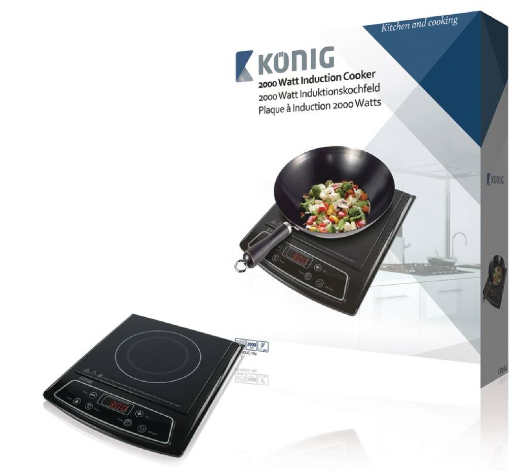 König König HA-INDUC-11N 1-Zone Design Inductiekookplaat 2000W