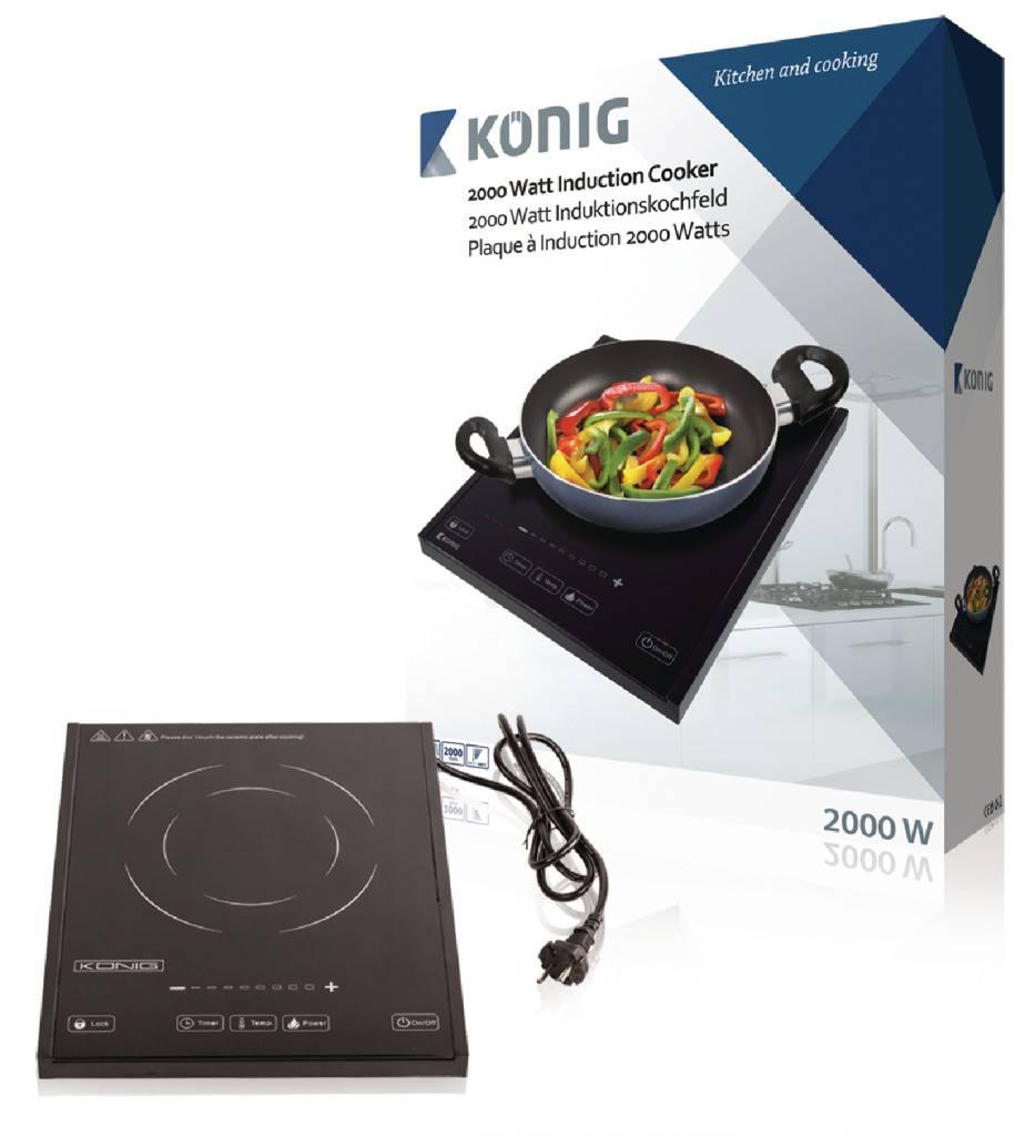 König König HA-INDUC-12N 1-Zone Inductiekookplaat 2000W