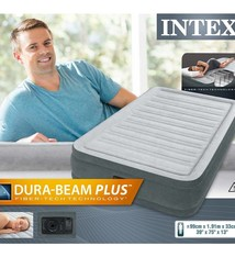 Intex Intex 67766 DuraBeam Midrise Twin 1-Persoons Luchtbed + Pomp 99x191x33cm