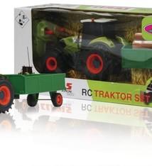 Jamara Jamara RC Claas Axion 850 Tractor 27MHz + Boomstammen Trailer RTR 1:28 Groen