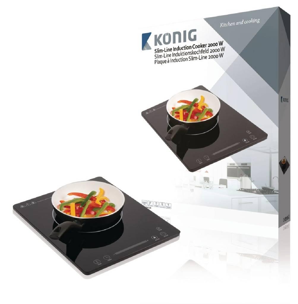 König König KN-INDUC-20 Enkele Inductiekookplaat Slim Line 2000W met Aanraakbediening