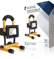 König König KNLEDFLMB10W Mobiele Oplaadbare COB Led-bouwlamp 10W 700Lumen Eu-stekker