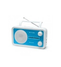 Muse Muse M-05BL Portable Radio Wit/Blauw