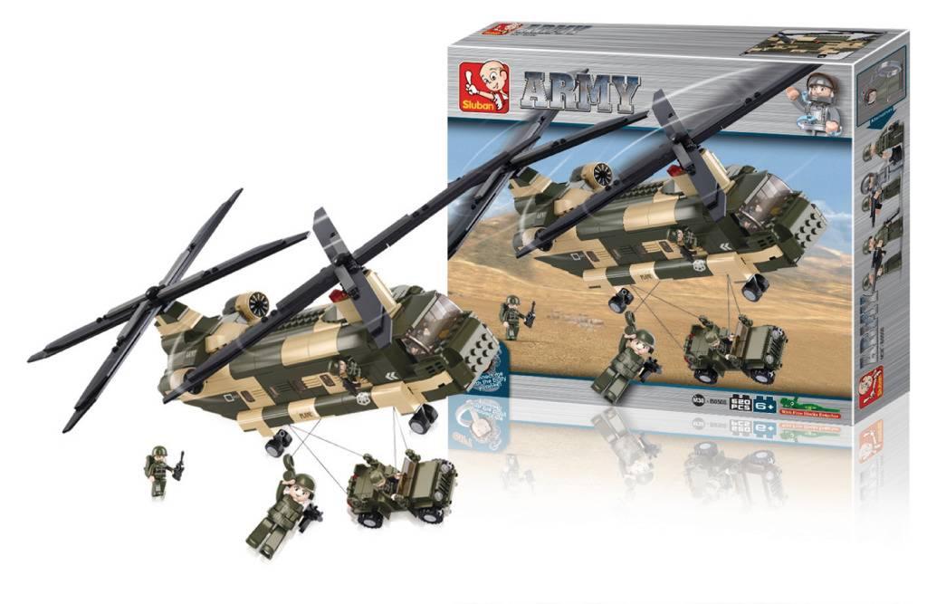 Sluban Sluban M38-B0508 Army Transporthelikopter