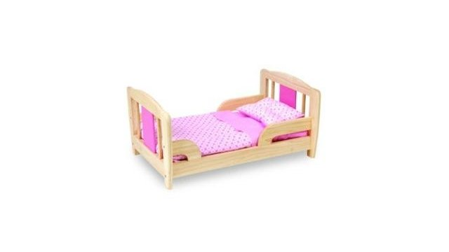 Pintoy Pintoy P07541 Groot Houten Poppenbed 53cm
