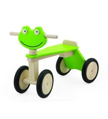 Pintoy Pintoy Houten Loopfiets Kikker met 4 Wielen Groen