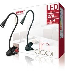 Ranex Ranex Cora LED Clip Bureaulamp 3.5W Zwart